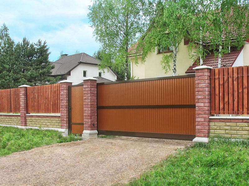 Въездные ворота Alutech